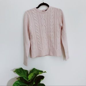 NWT GAP Pink Cable Knit Sweater Size Medium